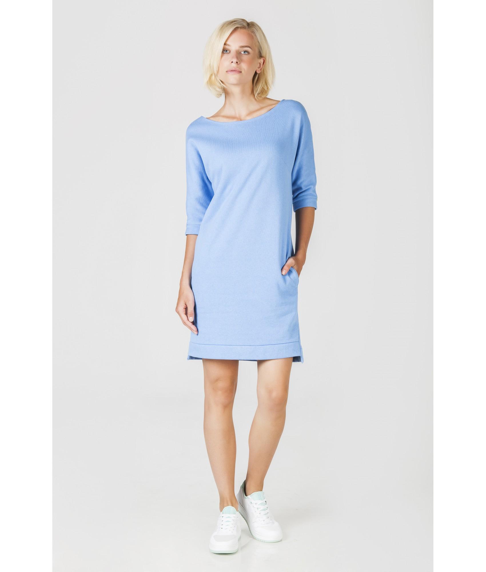 Světlemodré úpletové šaty 3edaa6c5fc
